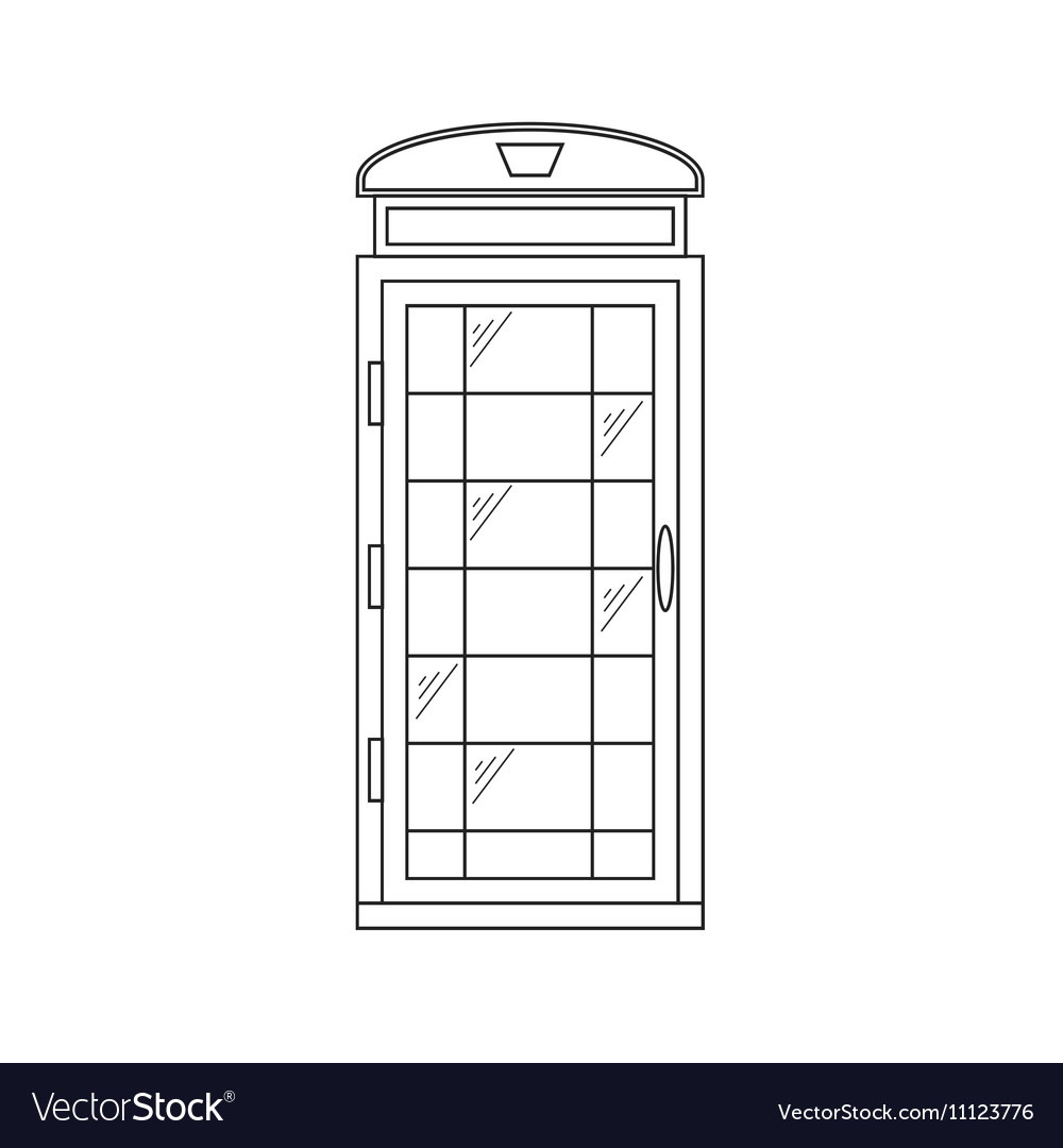 Call-Box London Thin Line vector image