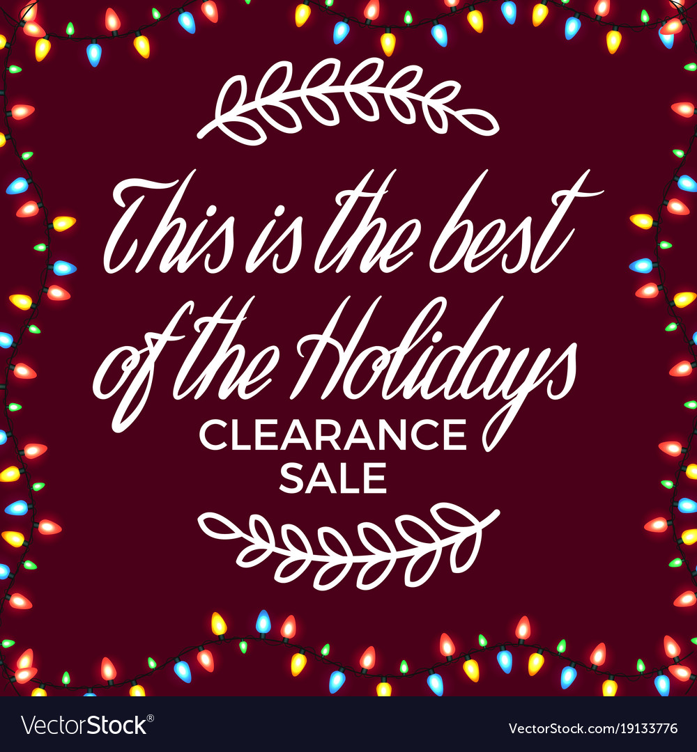 Clearance sale festive poster Royalty Free Vector Image