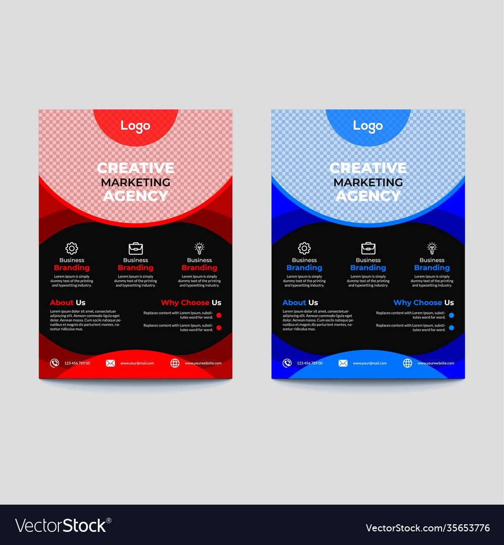 Corporate Business Flyer Template Royalty Free Vector Image