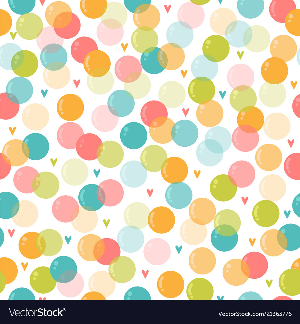 Cute seamless pattern with soap bubbles for kids