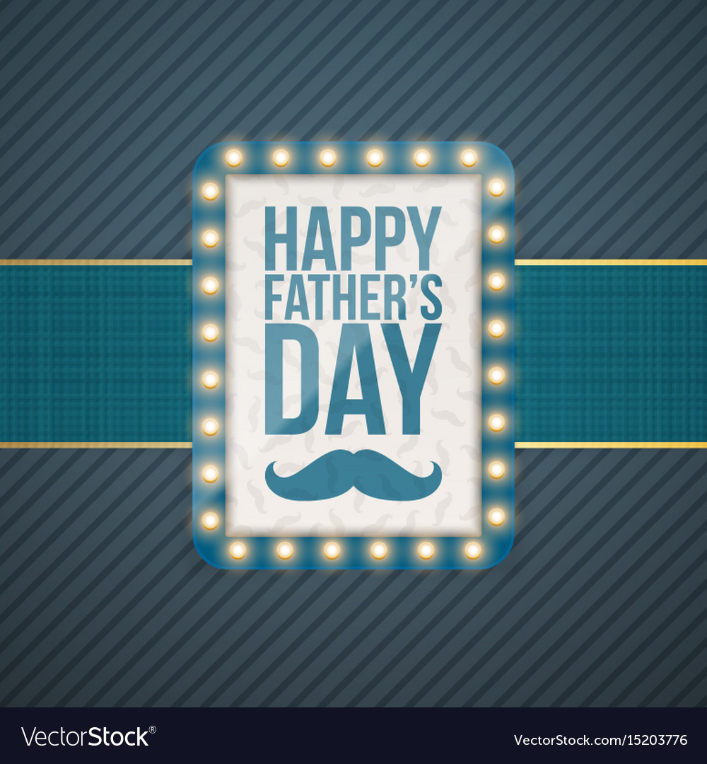 Happy fathers day greeting blue banner