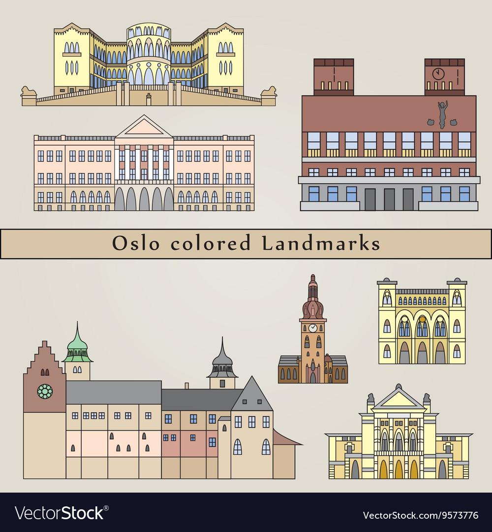 Oslo colored Landmarks