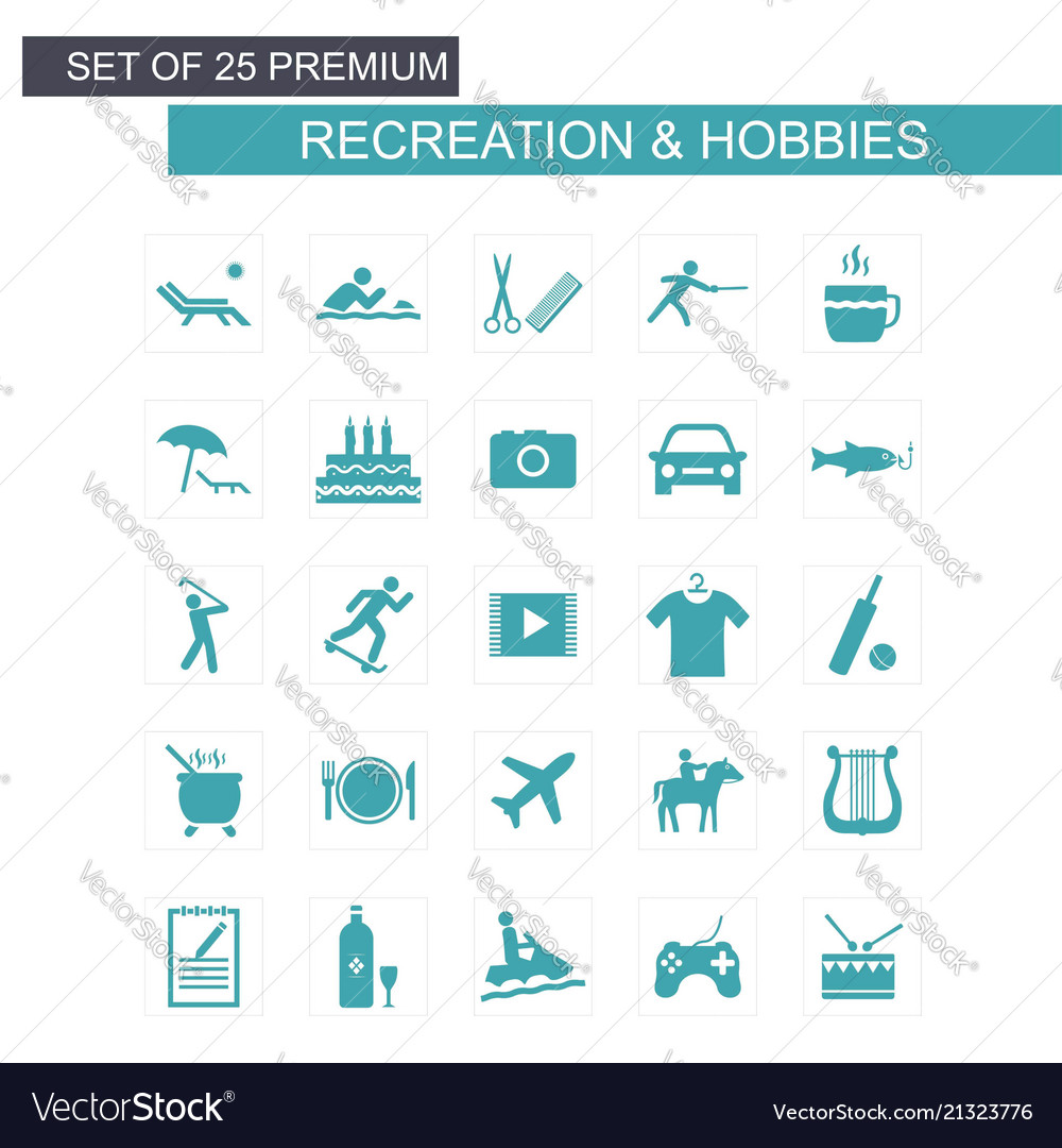 Set of Hobbies