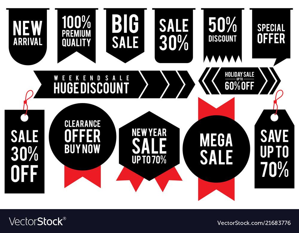 Set label discount