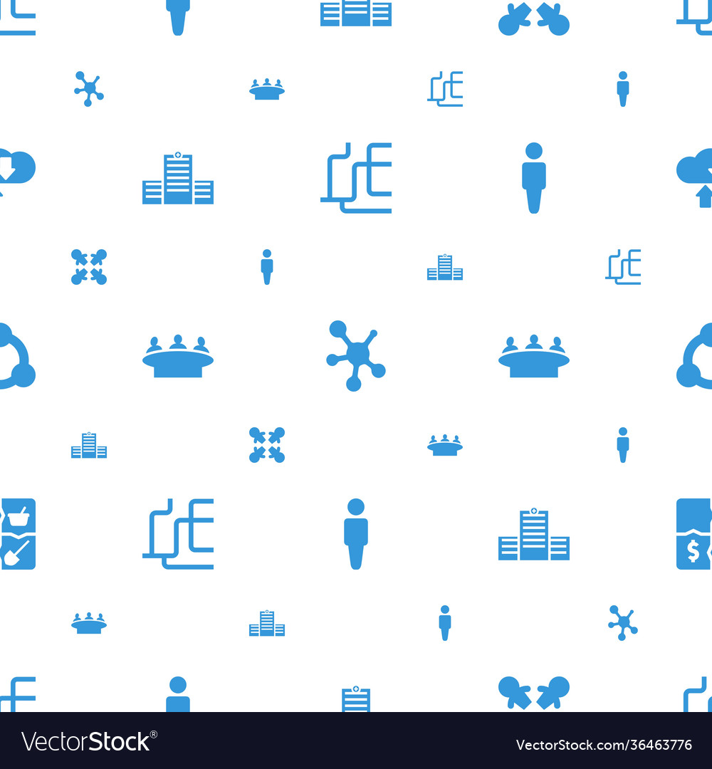 Social icons pattern seamless white background
