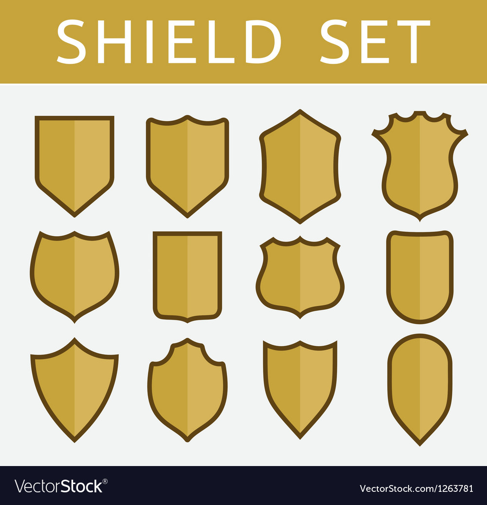 Gold shield set