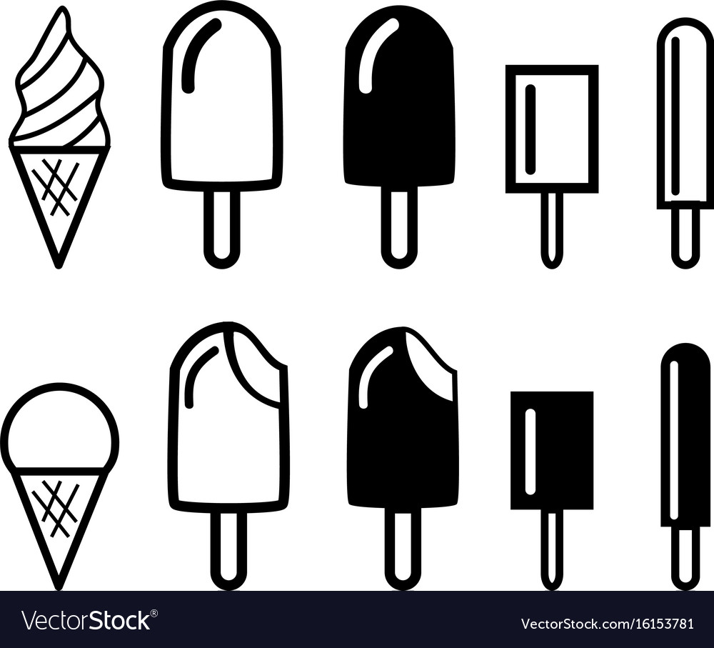Ice cream icons and symbol