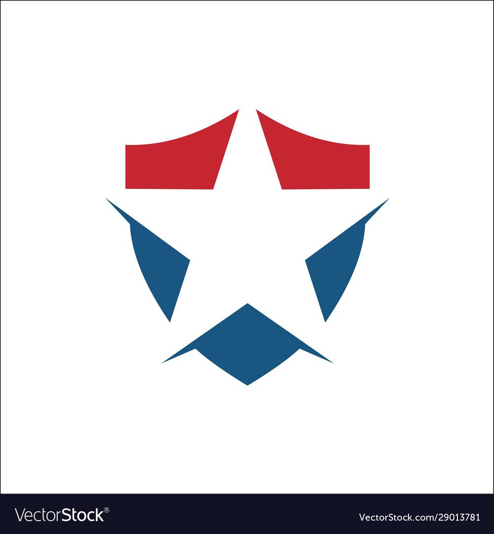Star with shield logo