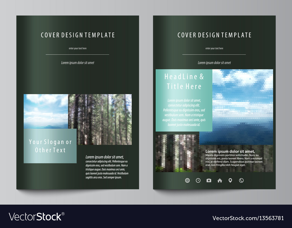 Templates for brochure magazine flyer booklet