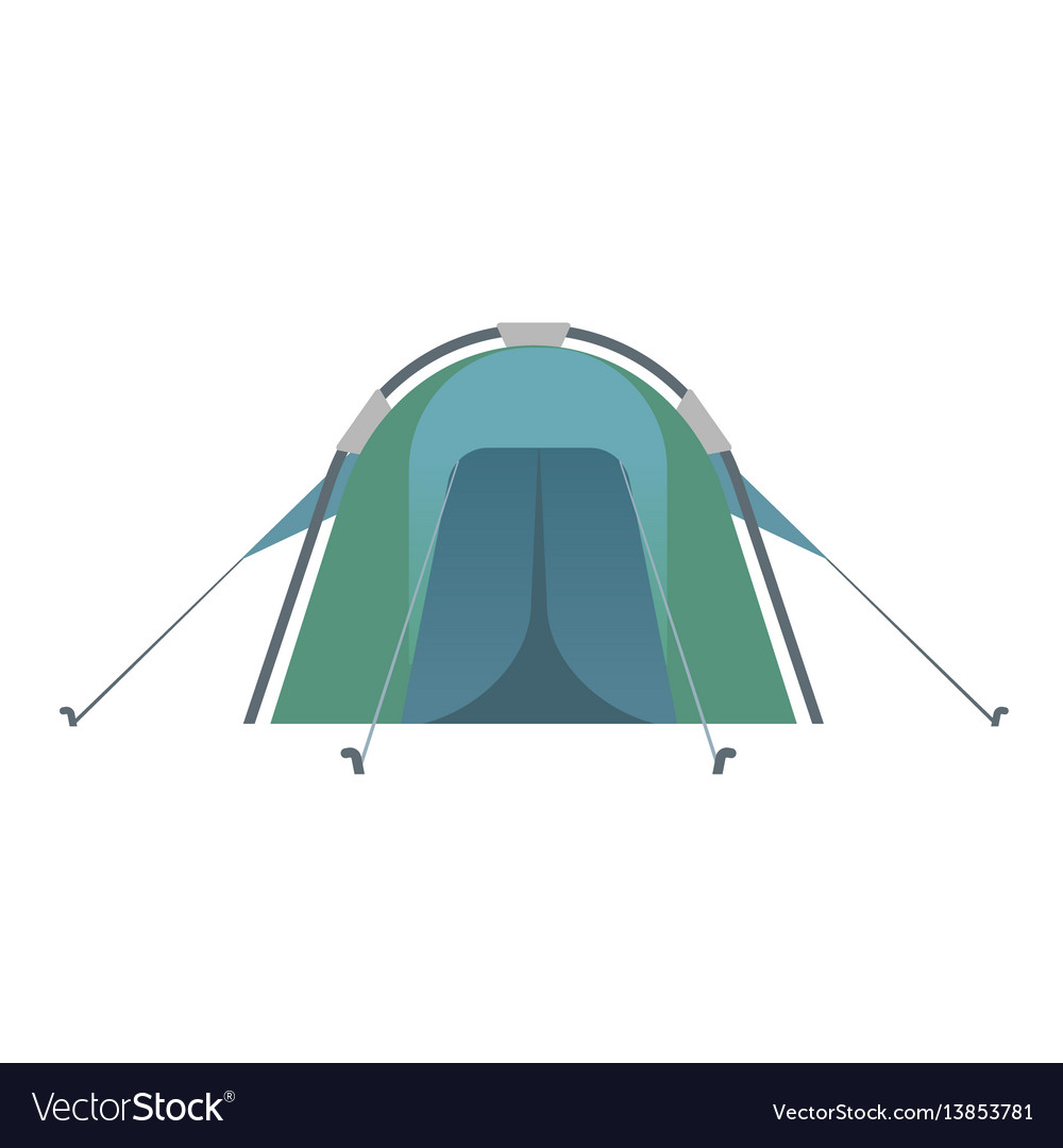 The blue colored tent vector image