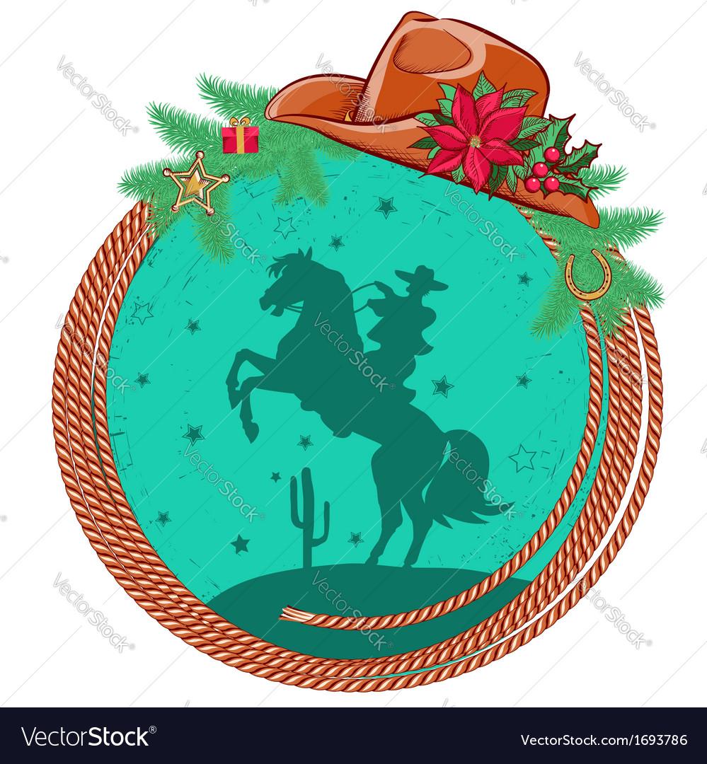 American cowboy Christmas background