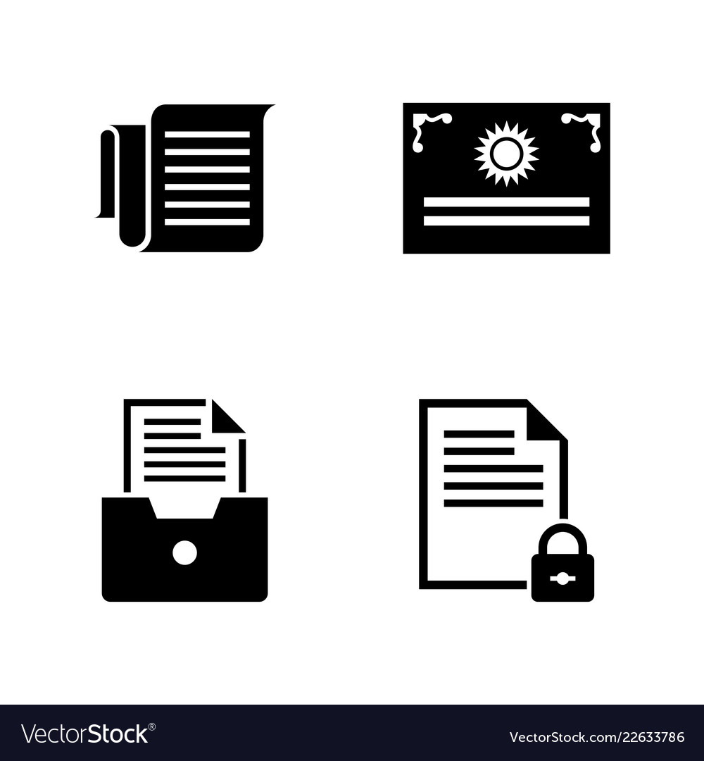 Business documents simple related icons