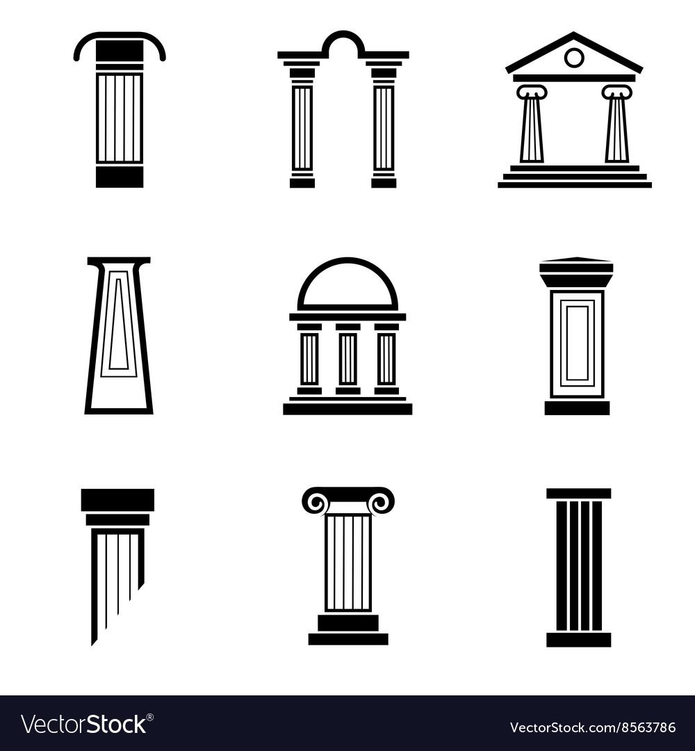 Column black icons