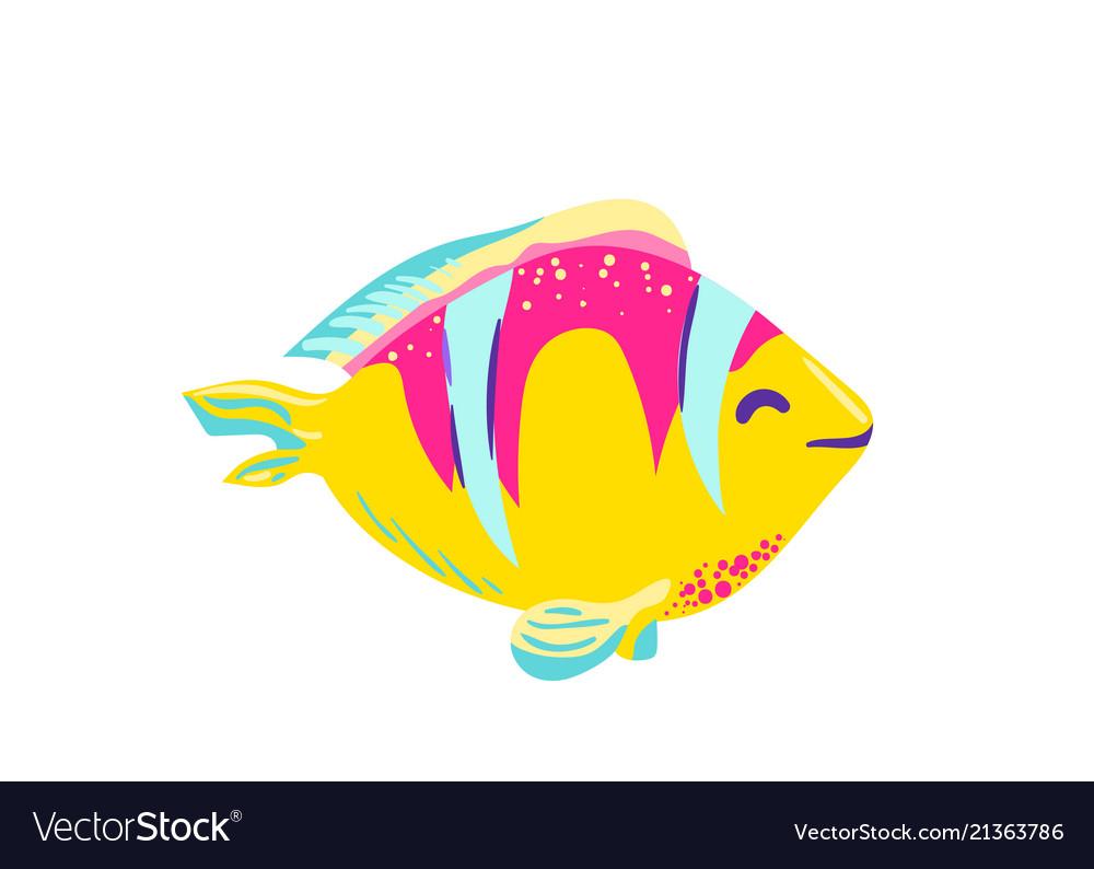 Cute fish clown cartoon