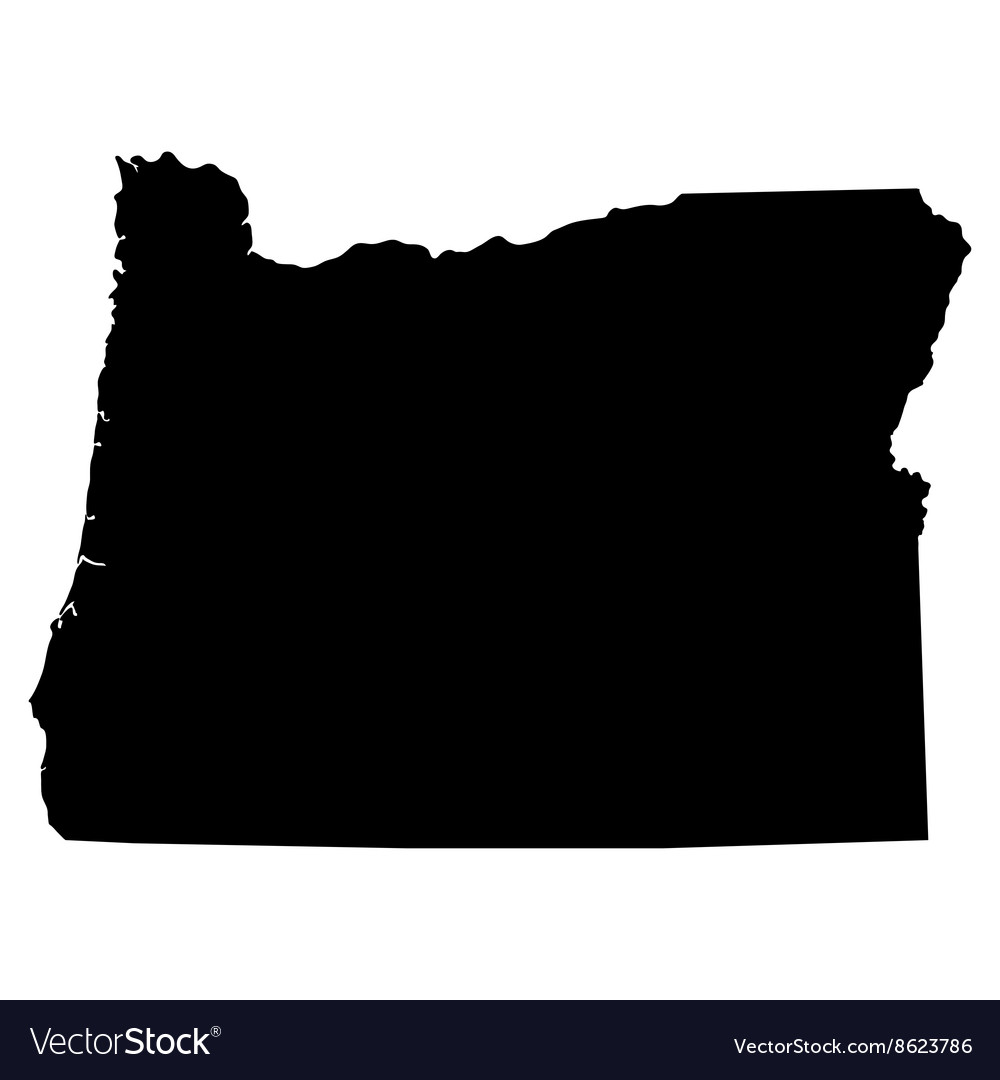 Oregon Map Image.Map Of The Us State Of Oregon Royalty Free Vector Image