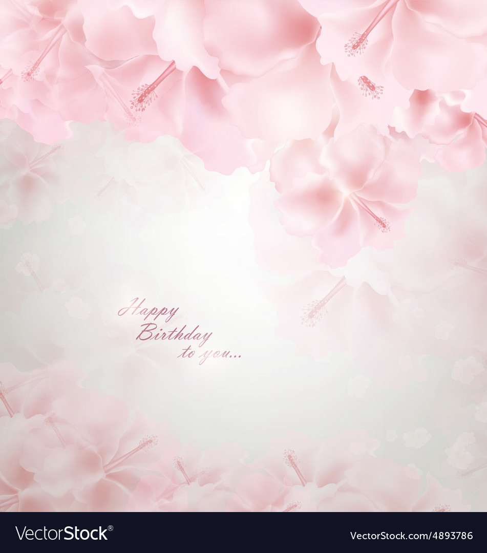 Pastel Floral Background Royalty Free Vector Image