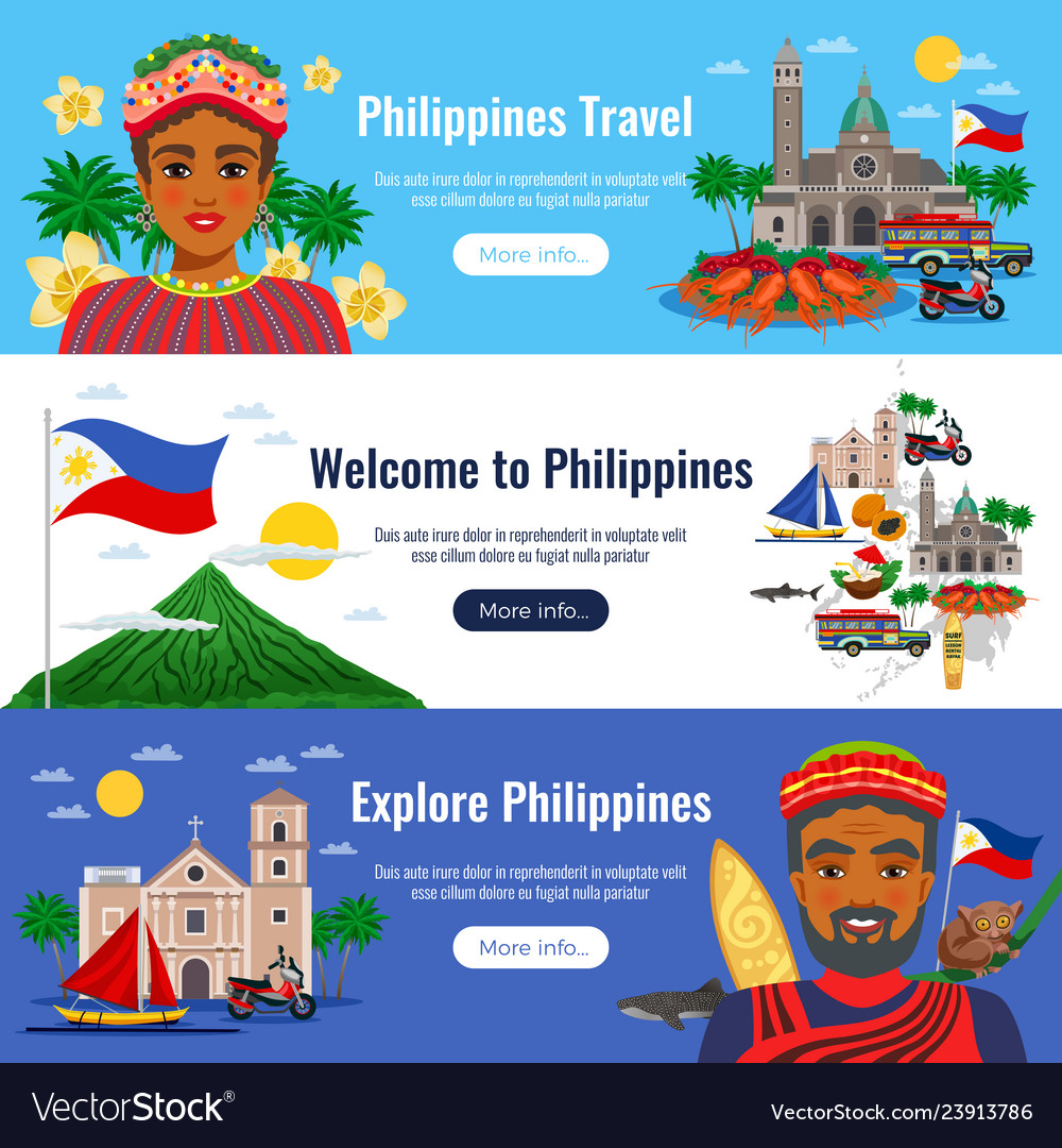 Philippines horizontal banners