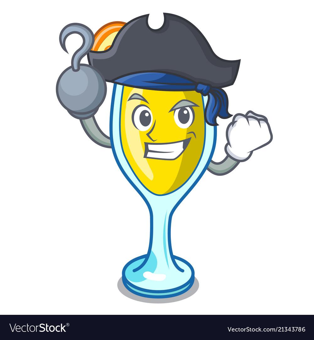 Pirate mimosa character cartoon style