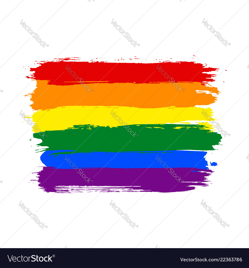 Rainbow lgbt watercolor flag
