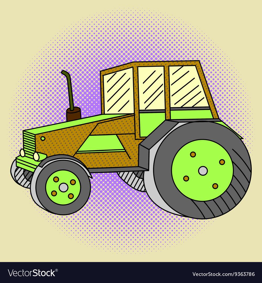 Tractor Pop art