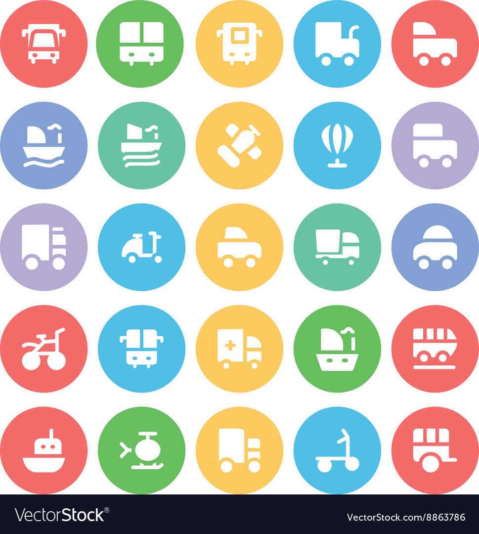 Transport Bold Icons 7 vector image