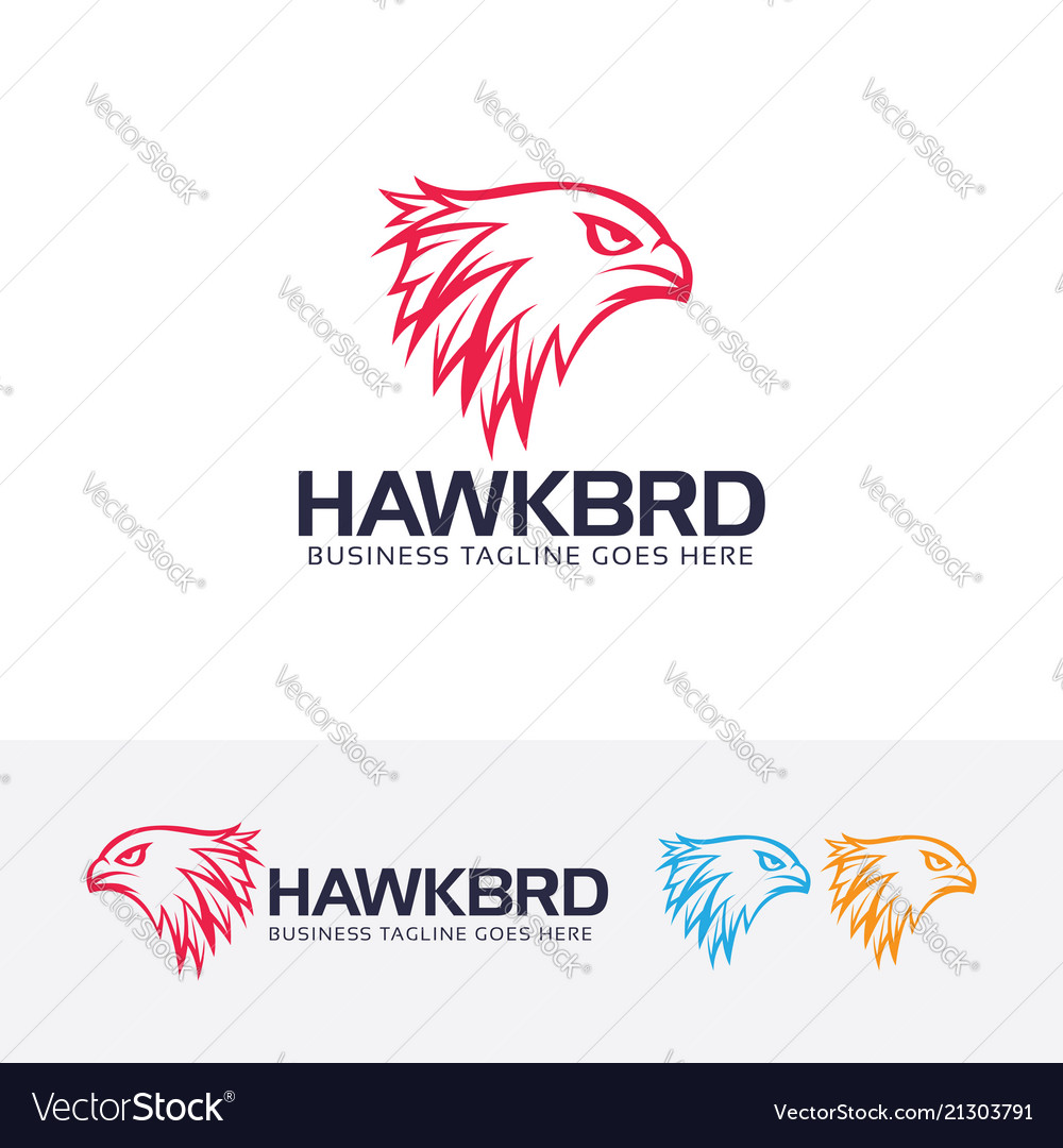 Hawk head logo design