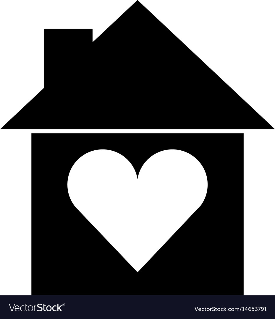 Groovy House Silhouette With Heart Home Remodeling Inspirations Genioncuboardxyz