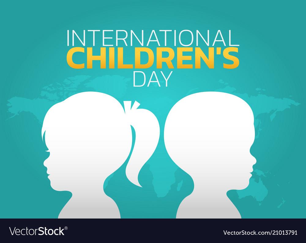 International children day logo icon design