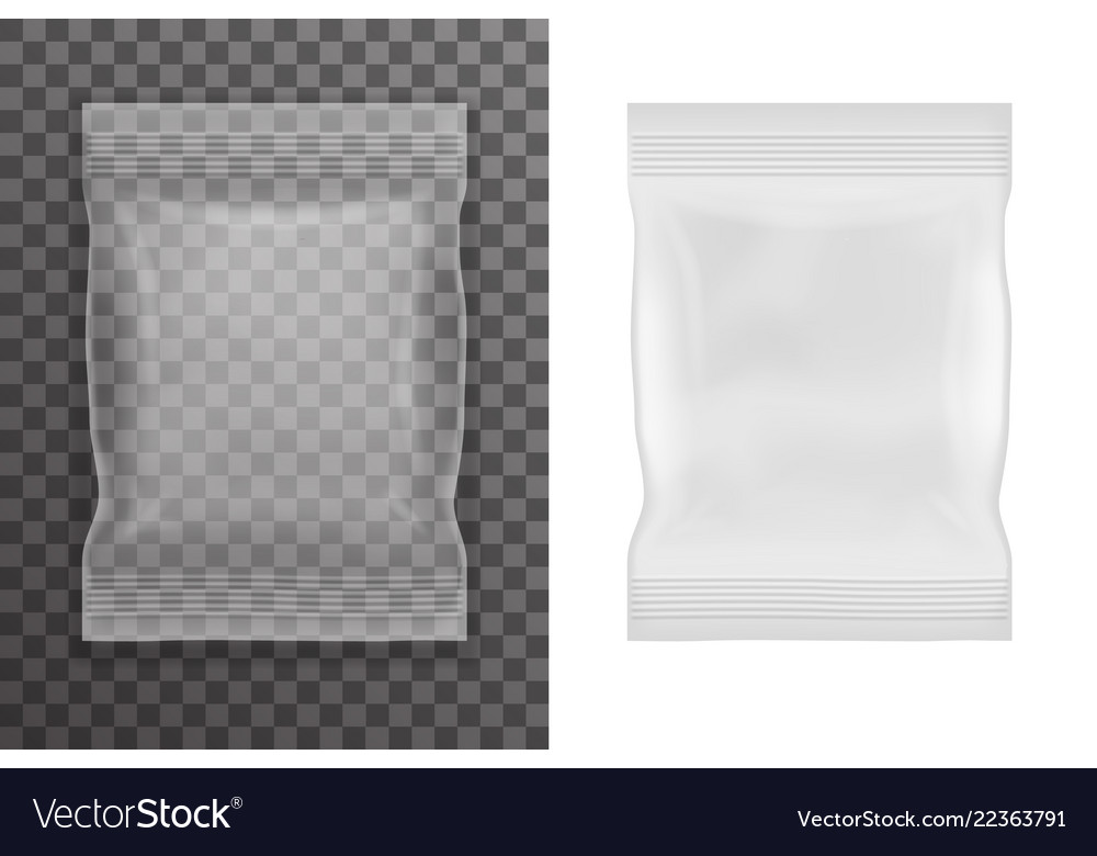 Plastic empty food packaging bag icon transparent