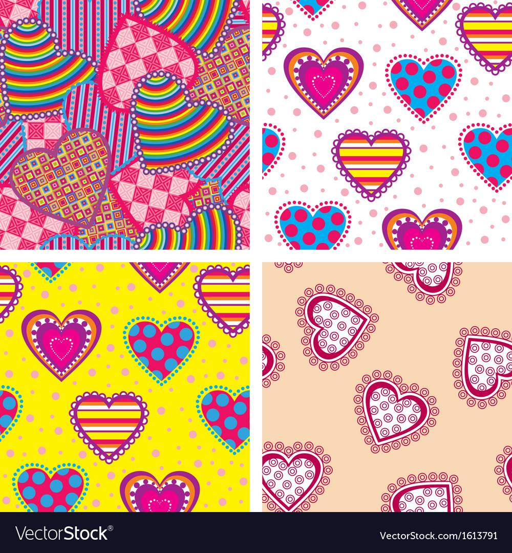 Set heart pattern