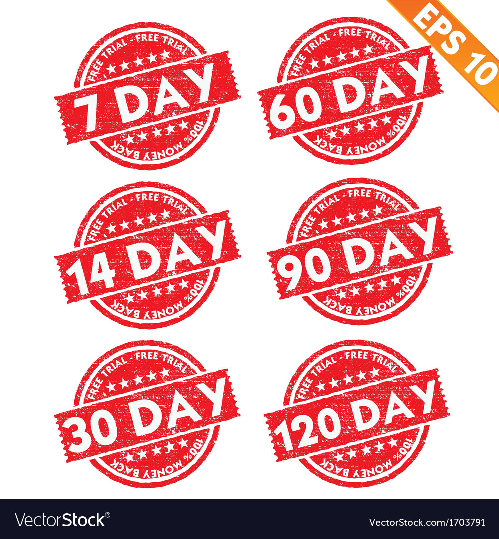 Stamp sticker Free trial collection - - EPS