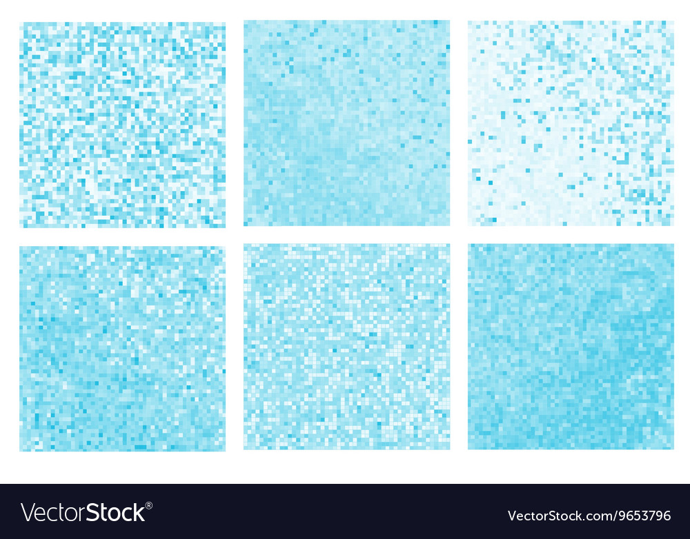Abstract blue pixel mosaic