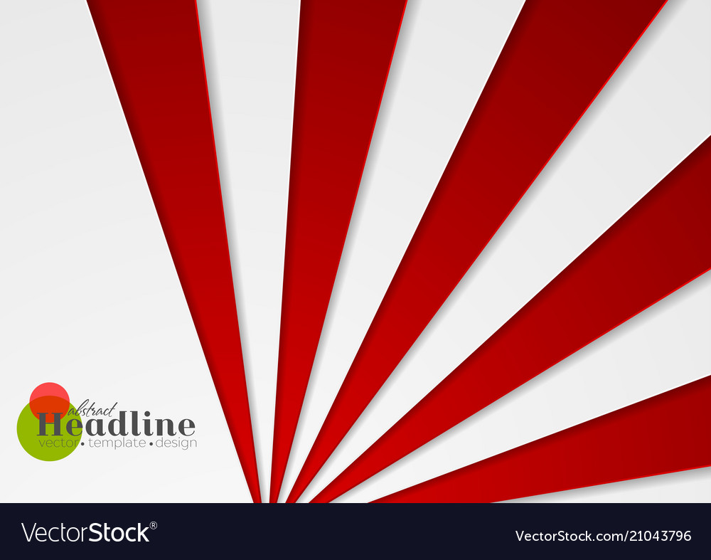 Abstract red and grey corporate material vector image