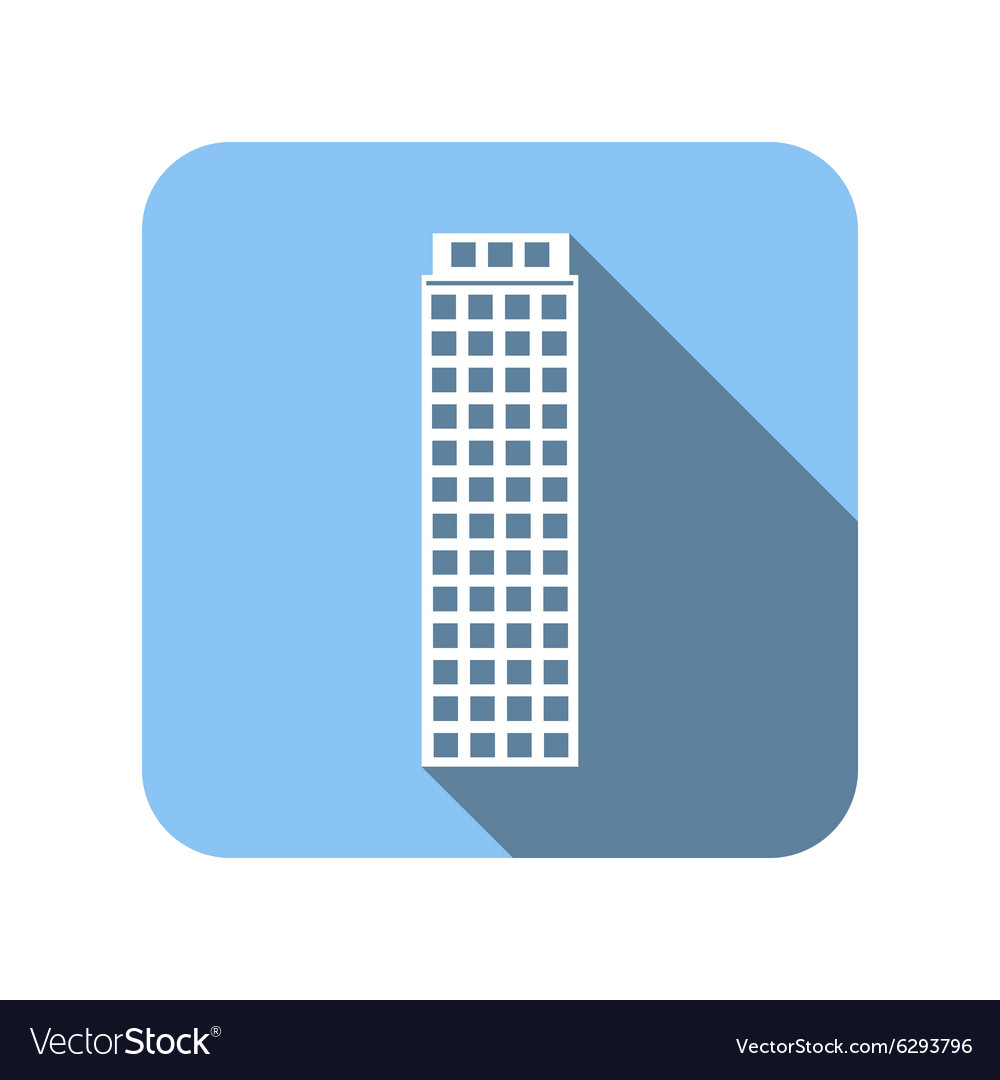 Blue house flat icon vector image
