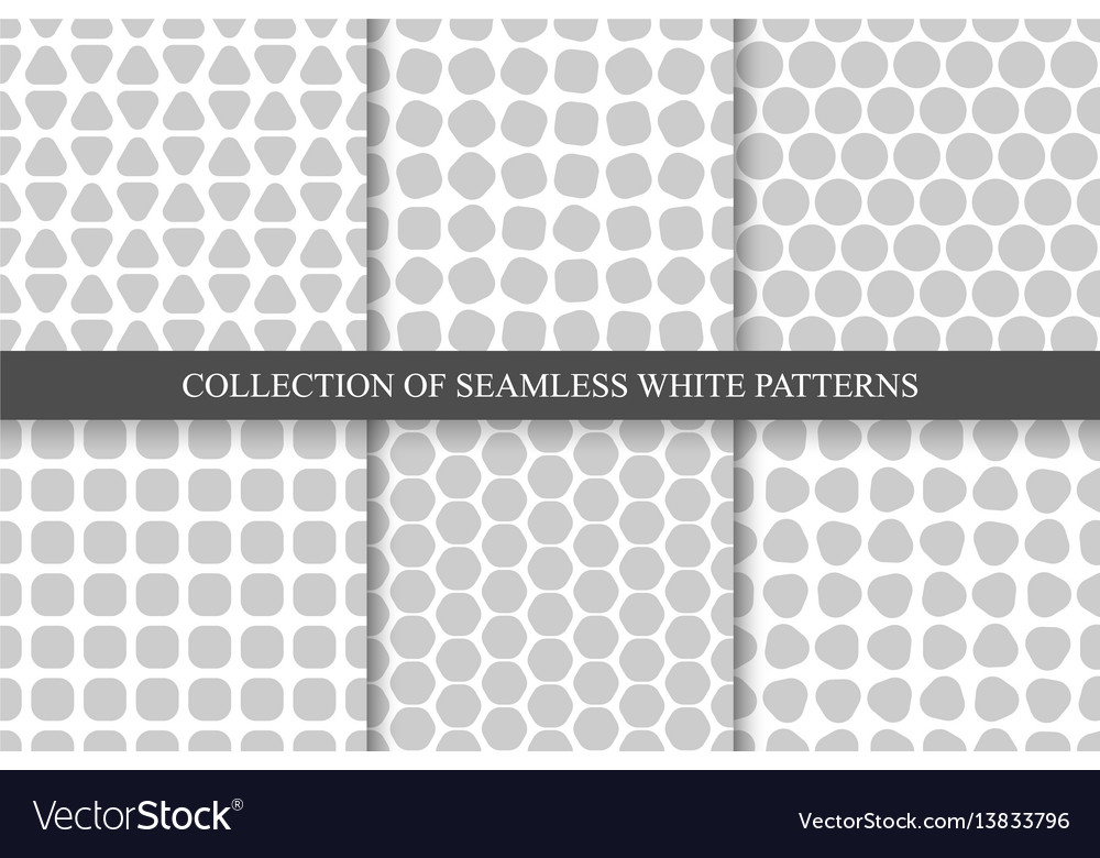 Collection of seamless simple geometric patterns