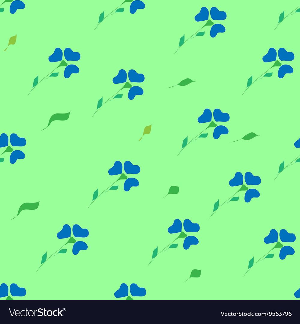 Flower blue seamless pattern