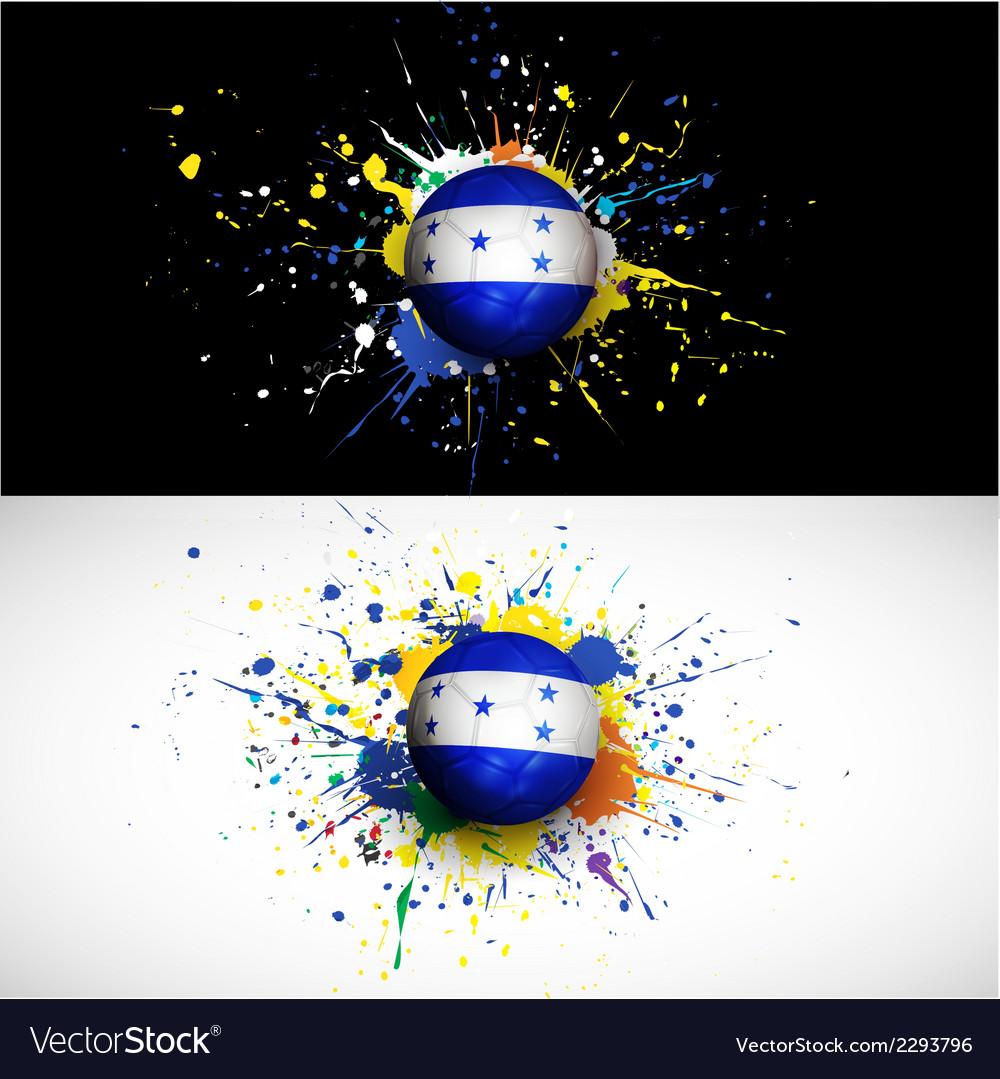 Honduras flag with soccer ball dash on colorful vector image