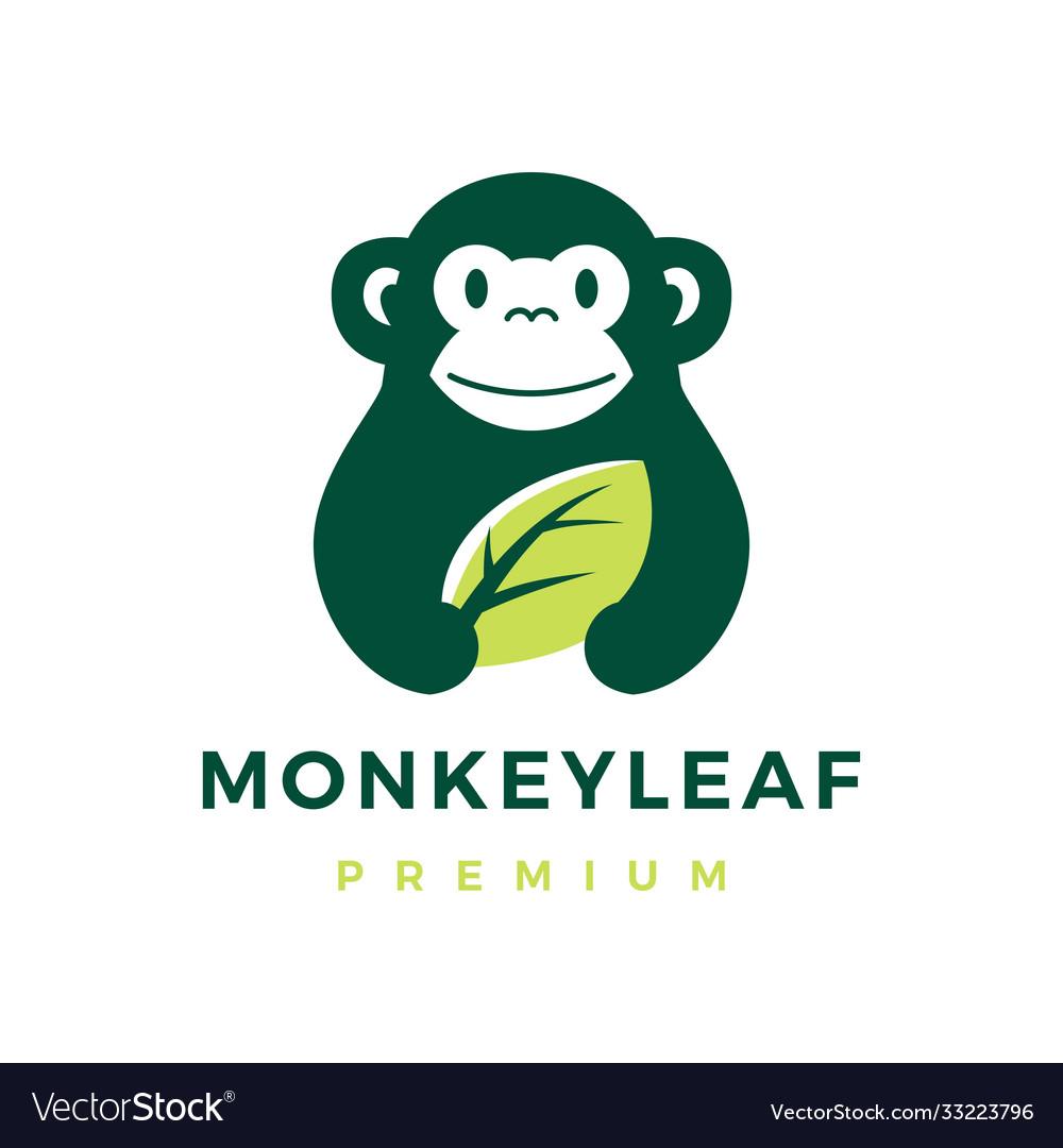 Monkey leaf logo icon