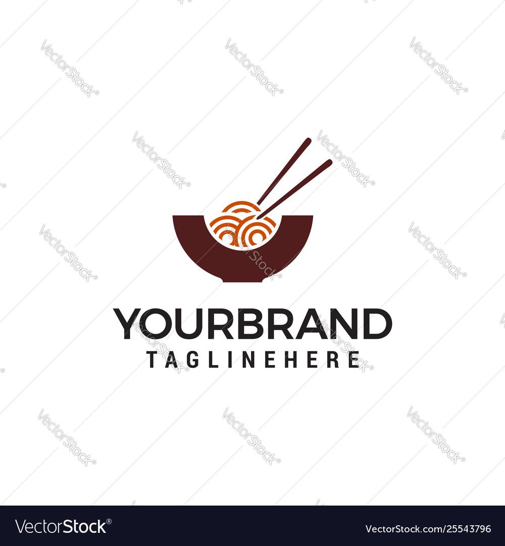 Noodles logo design concept template