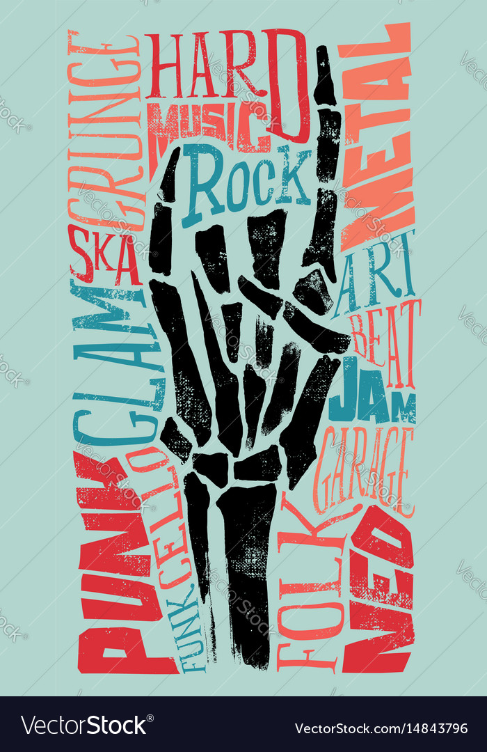 Rock for print on t-shirts vector image