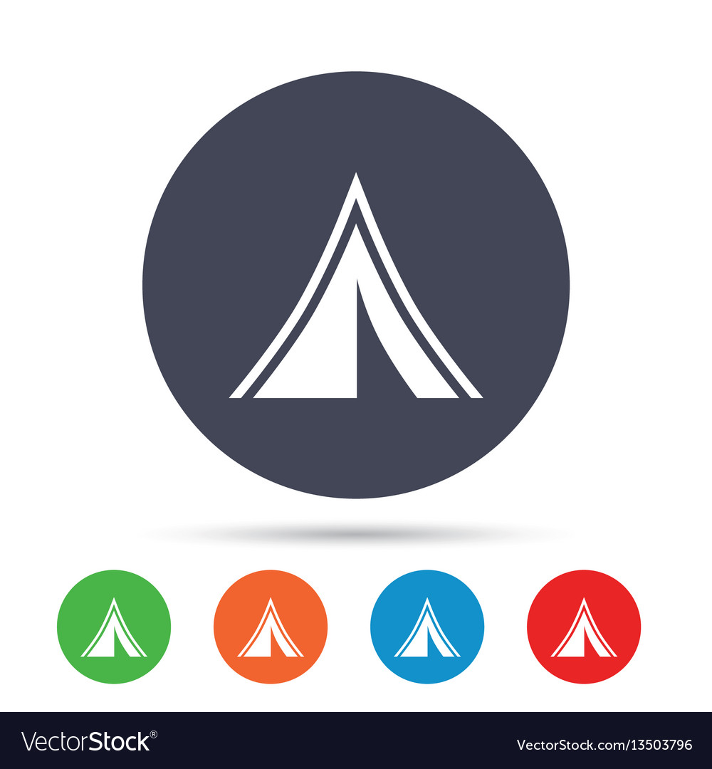 Tourist tent sign icon camping symbol