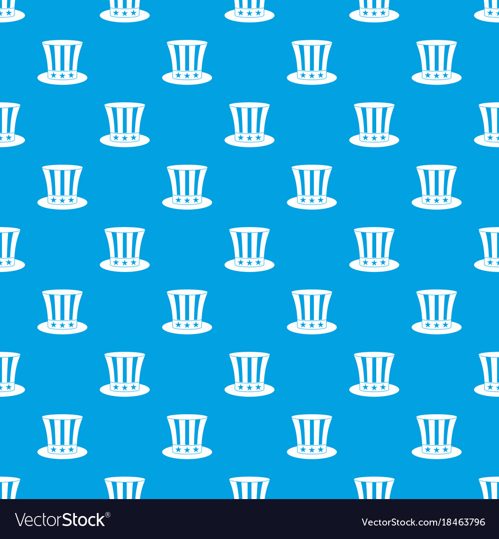 uncle sam hat pattern seamless blue royalty free vector
