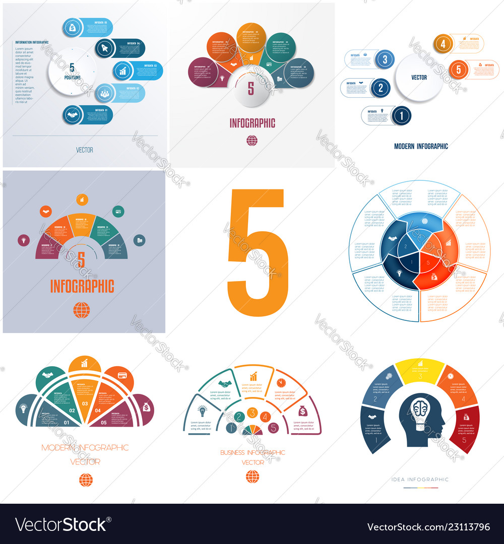 Universal templates elements infographics