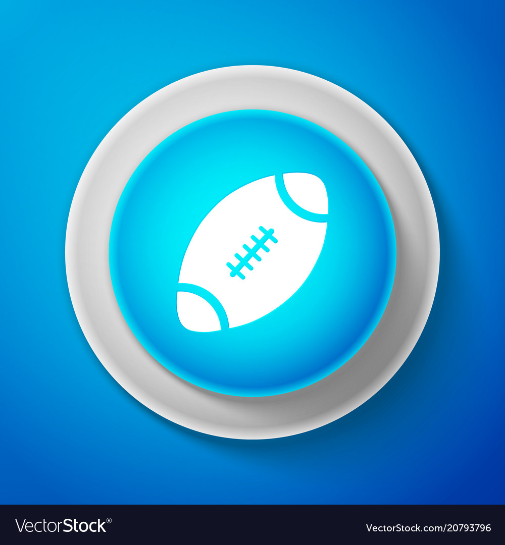 White american football ball icon isolated