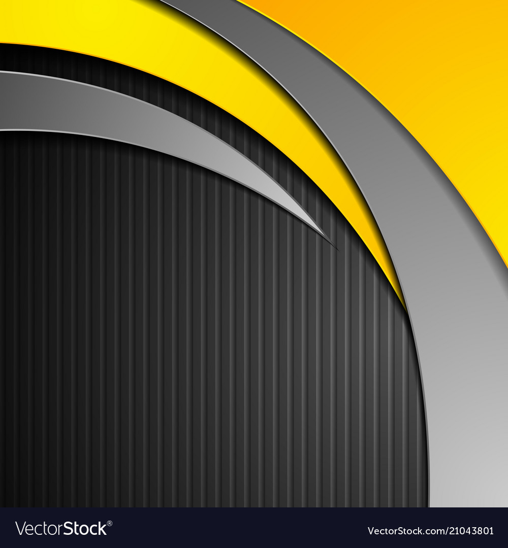 Abstract corporate waves on black striped