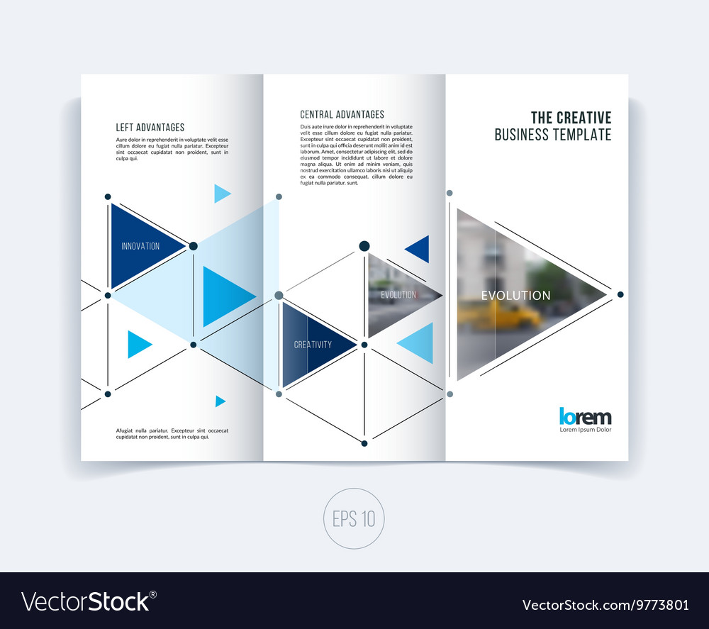 design for folding brochure or flyer royalty free vector