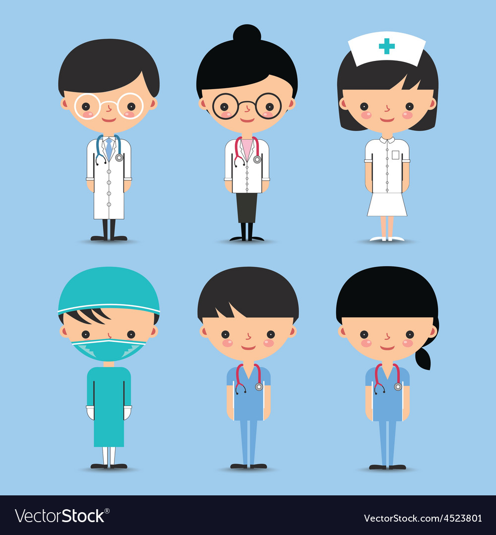 Doctor Nurse Team Characters