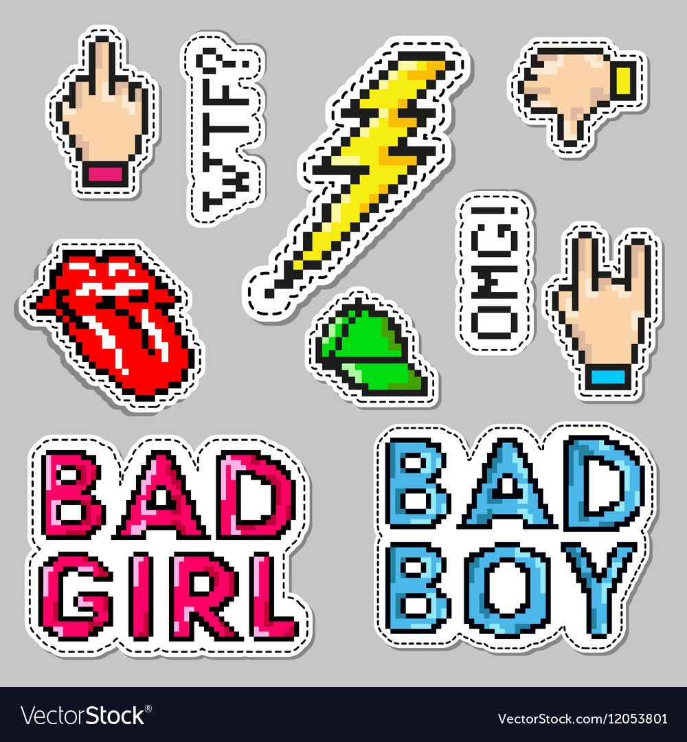 Fashion patch badges with lips hat bad boy