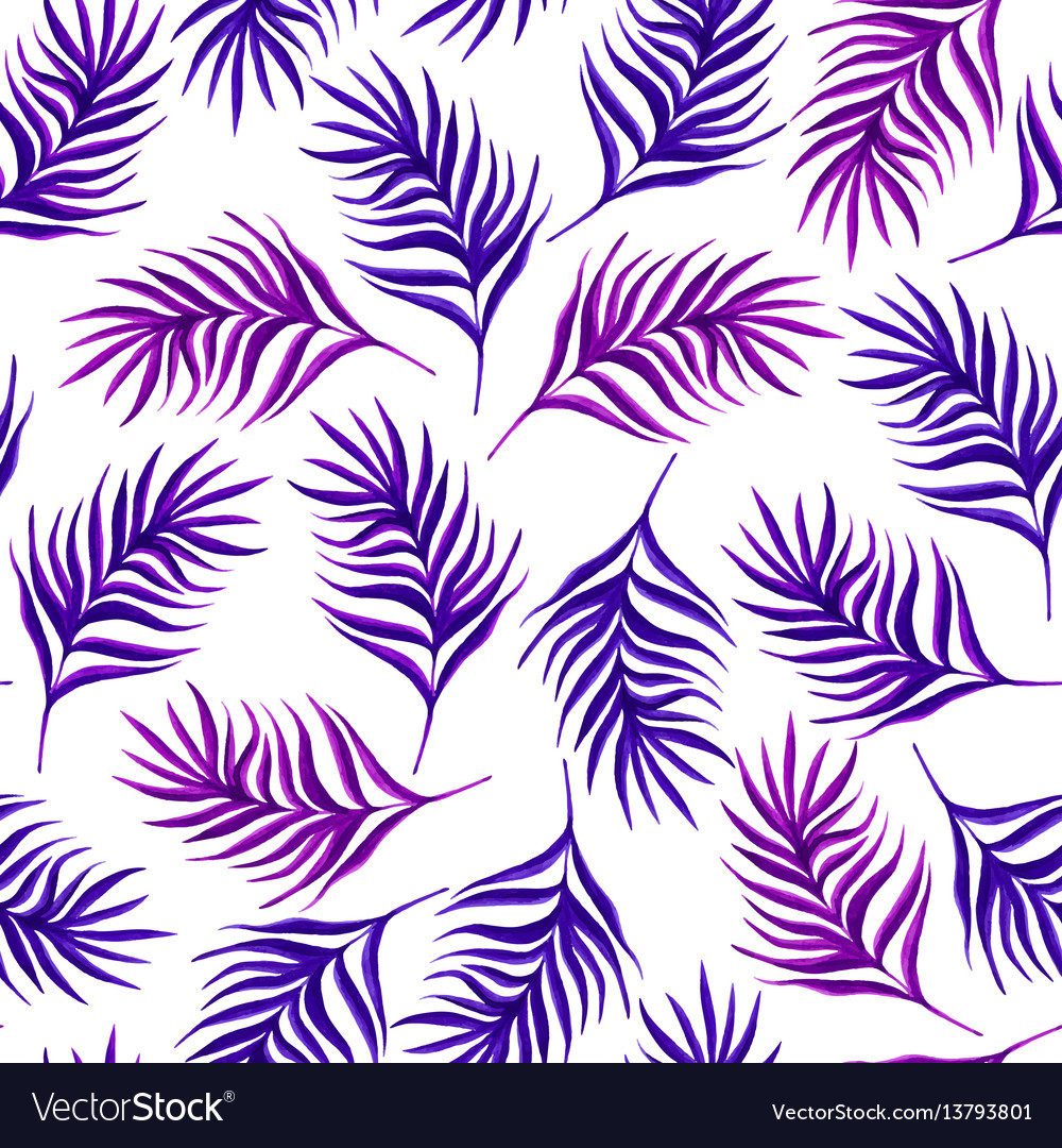 Floral seamless pattern with purple leaves on