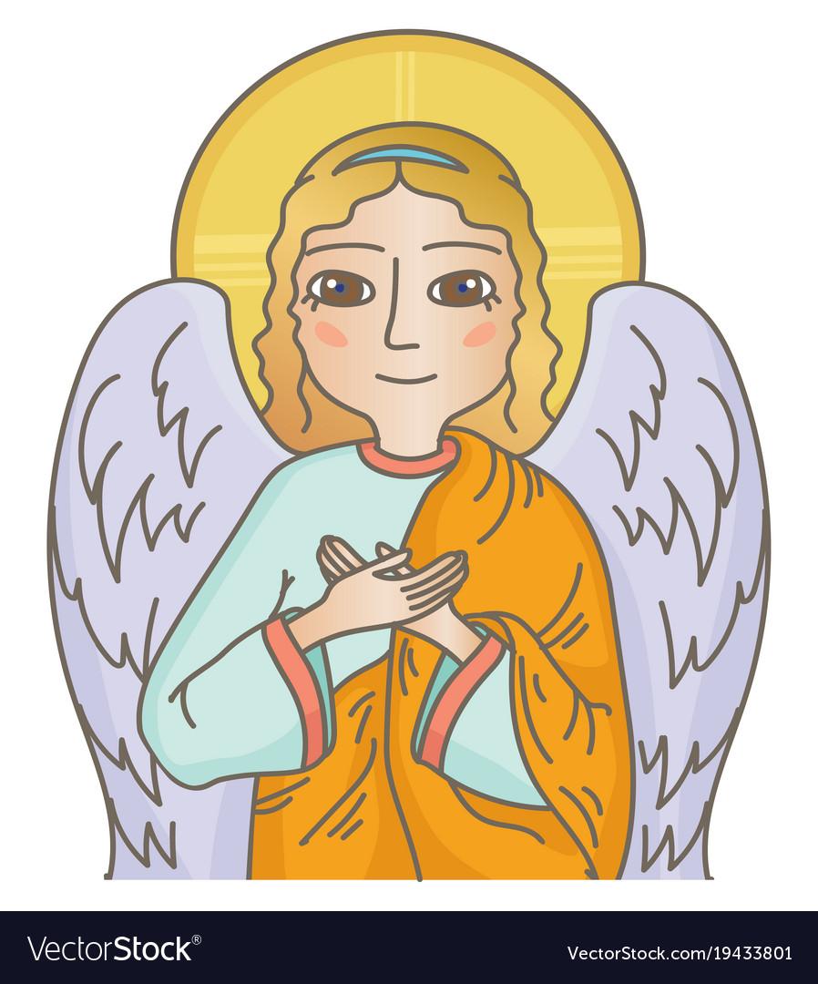 Guardian angel vector image